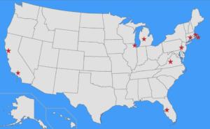 PDO 2020 destinations map
